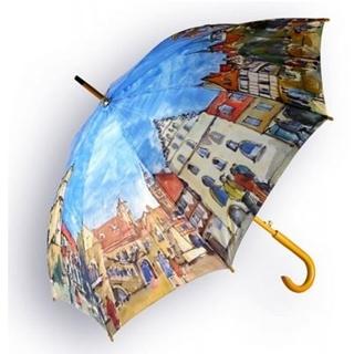 Besondere Geschenkideen aus Braunschweig: Regenschirm mit Braunschweig Aquarell