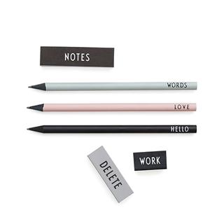 Besondere Geschenkideen aus Uelzen: Stifte-Set mit Radiergummi von Design Letters