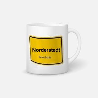 Regionale Geschenkidee: Tasse mit Norderstedt-Ortsschild