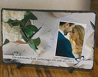 Besondere Geschenkideen in Ihrer Nähe: Tischuhr mit eigenem Foto