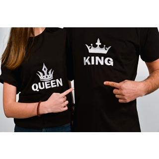 Besondere Geschenkideen aus Uelzen: Besticktes Partnershirt King & Queen