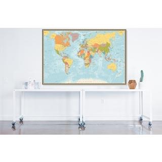 Besondere Geschenkideen aus Uelzen: Gerahmte Weltkarte