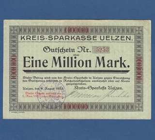 Besondere Geschenkideen in Uelzen: 1 Million Mark von 1923 - Kreissparkasse Uelzen