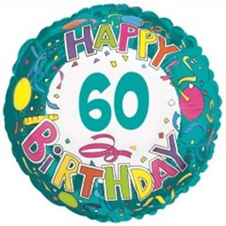 Besondere Geschenkideen aus der Region: Heliumballon 60th BIRTHDAY