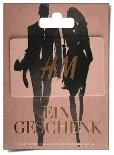 Besondere Geschenkideen aus der Region: Geschenkkarte von H&M