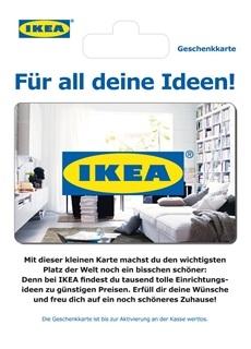 Besondere Geschenkideen aus der Region: Geschenkkarte von IKEA