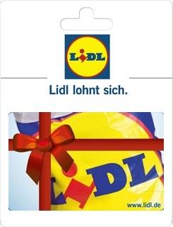 Geschenkgutscheine aus der Region: Geschenkkarte von Lidl