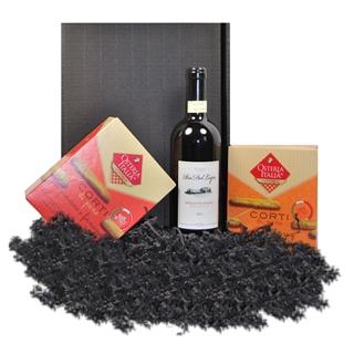Geschenkideen aus der Region: Geschenkset Wein und Grissini