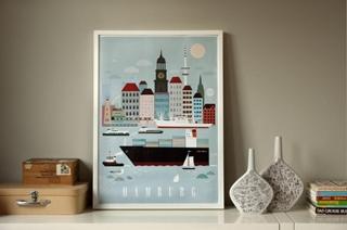 Besondere Geschenkideen aus Hamburg: Hamburg City Poster