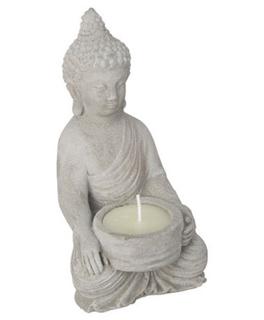 Besondere Geschenkideen in Ihrer Nähe: Buddha Dekofigur mit Kerze