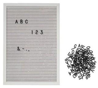 Besondere Geschenkideen in Ihrer Nähe: Memo-Board mit Buchstaben