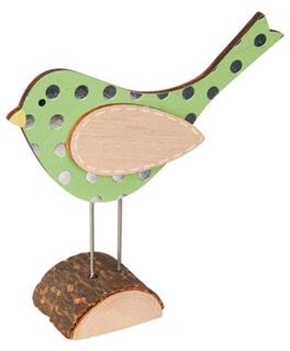 Besondere Geschenkideen in Ihrer Nähe: Vogelfigur mit Punktemuster