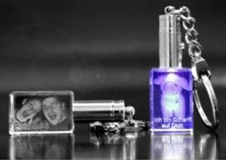 Geschenkideen aus Hannover: Schlüsselanhänger mit 2D Laser Foto