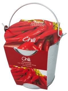 Besondere Geschenkideen in Ihrer Nähe: Chili-Pflanzset im Zinkeimer