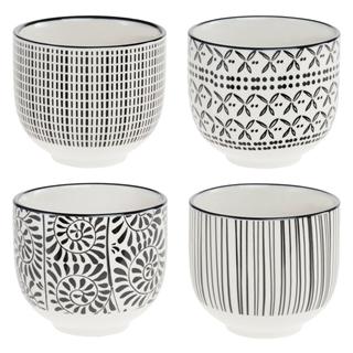Besondere Geschenkideen in Ihrer Nähe: Vier kleine Porzellan-Becher im Set