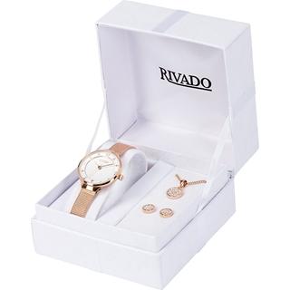 Geschenkideen aus der Region: Rivado Damen Set Uhr mit Kette & Ohrsteckern