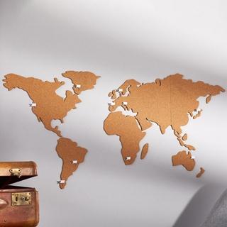 Besondere Geschenkideen in Ihrer Nähe: Selbstklebende Weltkarte aus Kork