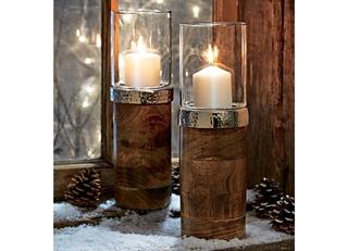 Besondere Geschenkideen in Ihrer Nähe: Windlicht Wood