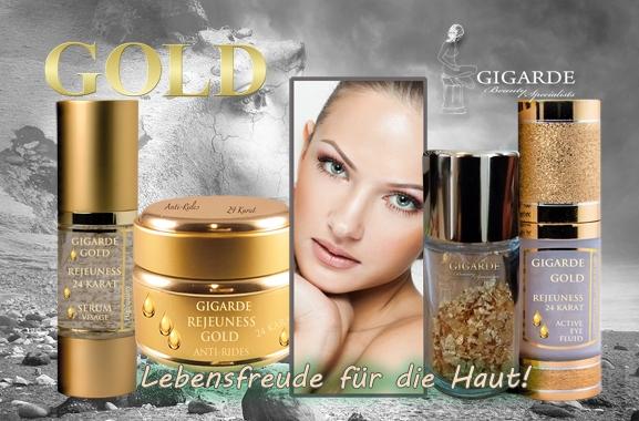 Hochwertiges Geschenk für Männer und Frauen: Luxuriöse GOLD Pflege